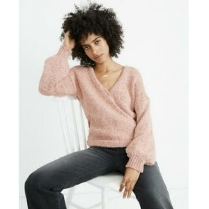 Madewell Beresford wrap front pullover swe…